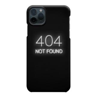 ネオン管 「404 NOT FOUND」 Smartphone cases