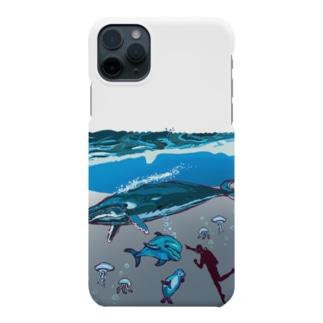 油絵描きの小物売り場のスカンジナビアの海のお散歩 Smartphone cases