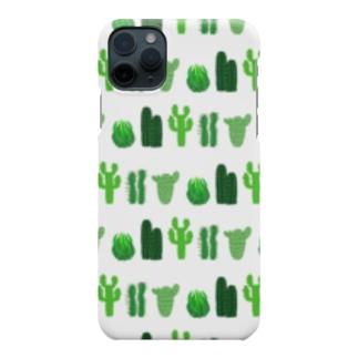 🌵カクタス🌵ホワイト🌵 Smartphone cases