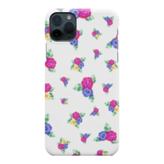 TinyMiry(タイニーミリー)の白地に三色花柄 Smartphone cases