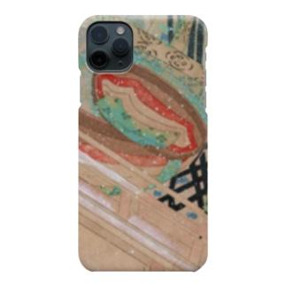 承香院(じょうこういん)オリジナルグッズの雪の中を待つ平安姫君 平安古画模写より (承香院グッズ) Smartphone cases