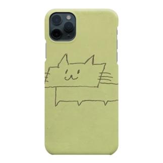 平行四辺形ネコ Smartphone cases