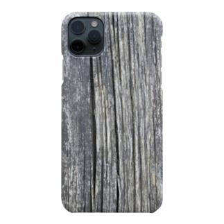 朽ちた木目 Smartphone cases