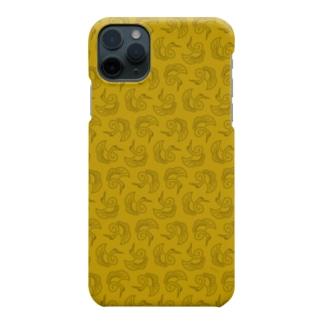 鶴柄-金 Smartphone cases