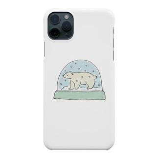 シロクマスノードーム Smartphone cases