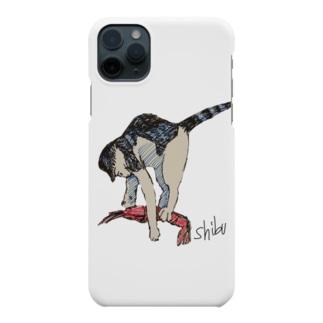 海老を仕留める猫 Smartphone cases