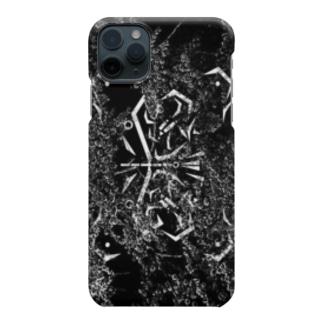 花海棠:和柄デジタルカモ黒 お花の影屋さん【百影】 Smartphone cases