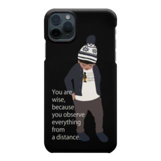 ノルディック帽の少年BK(スマホサイズ) Smartphone cases