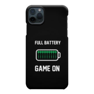 FULL BATTERY GAME ON iPhone Case (黒) Smartphone cases