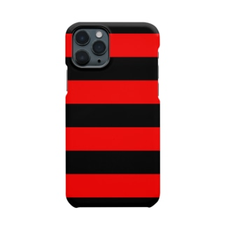 Border Stripe (Black × Red) Smartphone cases