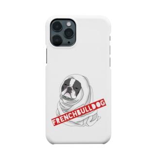 寒がりフレンチブルドッグ♥️ Smartphone cases