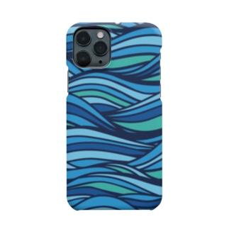 なかむらりか商店の波 Smartphone cases
