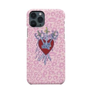 iiTAIDAKEエンブレム・ピンクレオパード Smartphone cases