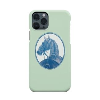 サラブレッドの肖像画(ミント) Smartphone cases