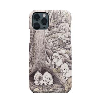 Momojiの犬画のぽんちょな森 Smartphone cases