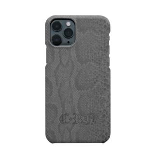 毒蛇携帯(灰) Smartphone cases