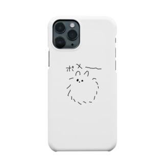 左手で描いたポメ Smartphone cases
