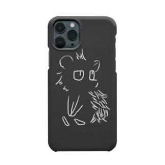 見つめる針鼠(白)【iPhone11Pro専用】 Smartphone cases