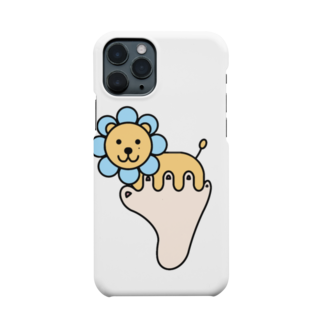あしゆびふれんずのあしゆびらいおん(ブルー) Smartphone cases