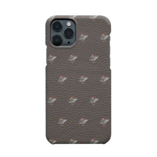 GUN & ROSE PATTERN / GRAY Smartphone cases