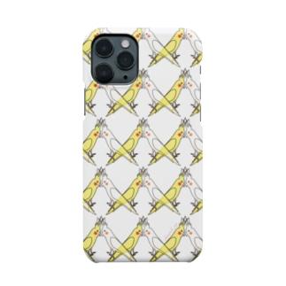 オカメインコ(クロス模様①) Smartphone cases