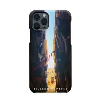 バロセロナの路地T カラー Smartphone cases
