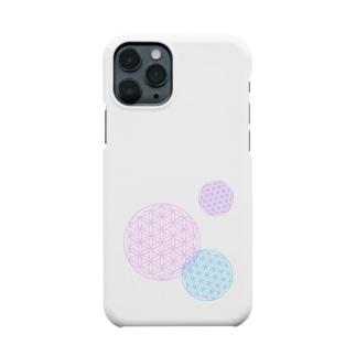 フラワーオブライフ Smartphone cases