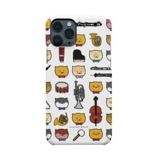 柴犬ラク(ラクと楽器たち) Smartphone cases