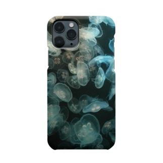 クラゲだらけ-白黒 Smartphone cases