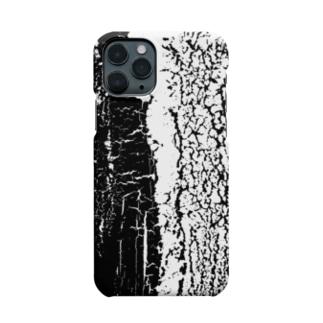 アート・塗装ひび割れ「白と黒」スマホケース Smartphone cases
