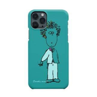 maplesのSmoky men light blue Smartphone cases