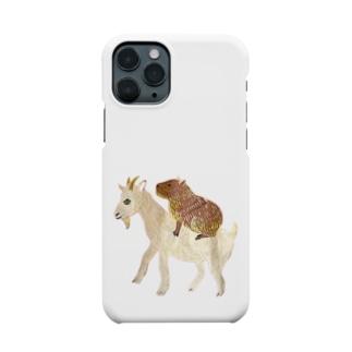 ヤギとカピパラん Smartphone cases