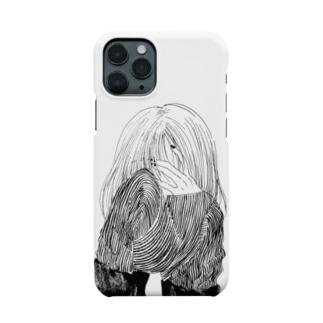 泣いてる(ように見える)女の子 Smartphone cases