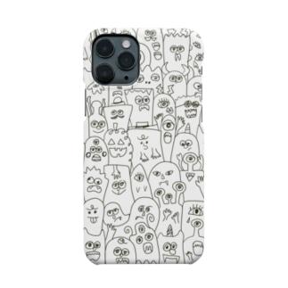 chilnyのモンスター白黒 Smartphone cases