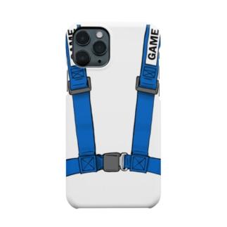 青 スマフォカバー スマフォケース GAME ゲーム スマフォもシートベルトをしましょう!ブルー(e-Sports) Smartphone cases