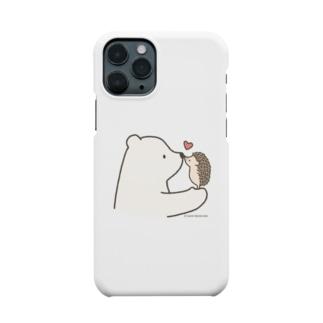 しろくま&ハリネズミ Smartphone cases