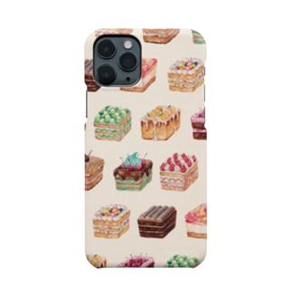 スクエアケーキ Smartphone cases
