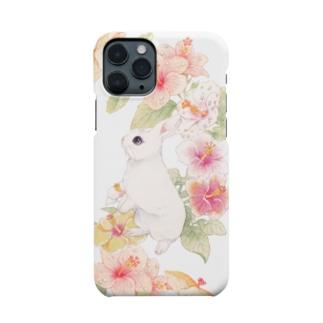 ハイビスカスうさぎ Smartphone cases