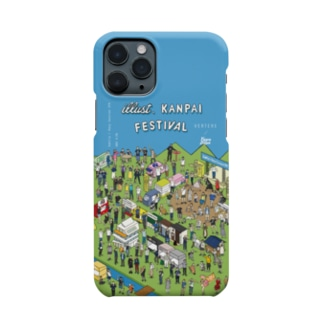iso Brewing Designのイラスト乾杯フェス Smartphone cases