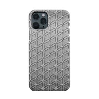 フラワーオブライフ メタリックA Smartphone cases