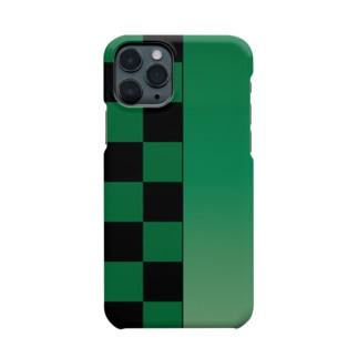 市松模様 iPhone11proケース Smartphone cases
