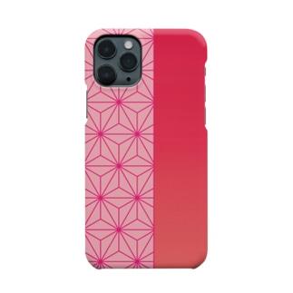 麻の葉 iPhone11proケース Smartphone cases