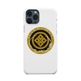 丸に隅たて四ツ目 八光流公式 Smartphone cases