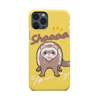 シャー!するフェレット セーブル iphone11pro用 Smartphone cases