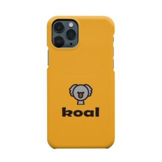 コアラ(オレンジ) Smartphone cases