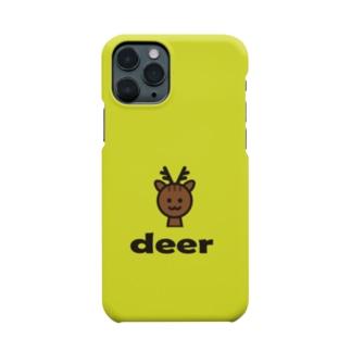 シカ(ライトグリーン) Smartphone cases