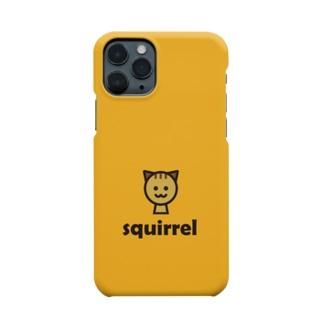 リス(オレンジ) Smartphone cases