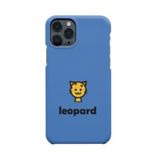 ヒョウ(ブルー) Smartphone cases