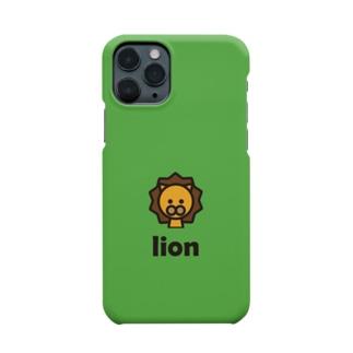 ライオン(グリーン) Smartphone cases