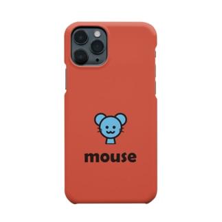 ねずみ(レッド) Smartphone cases